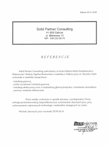 10. Referencje - Solid Partner Consulting - Zabrze