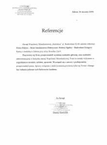 13. Referencje - Wspólnota Mieszkaniowa Rokitnica - Zabrze