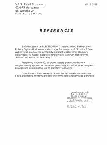 18. Referencje - V.I.S. Retail Sp. z o.o. - Warszawa