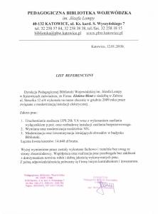 2. Referencje - Pedagogiczna Biblioteka Wojewódzka - Katowice