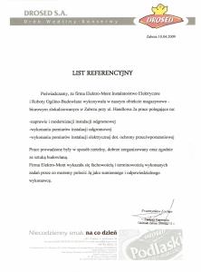 5. Referencje - Drosed S.A. - Siedlce