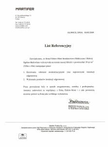 6. Referencje - Martifer Polska Sp. z o.o. - Gliwice