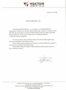 9. Referencje - Wektor Inwestycje Sp. z o.o. - Gliwice